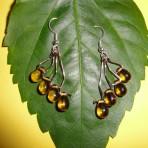 Amber Teardrop Dangle Earrings