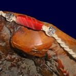 Red Bead Hemp Bracelet