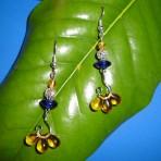 Tri-Amber Dangle Earrings